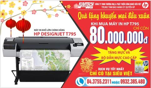 Khuyến mại đầu xuân máy in HP T795