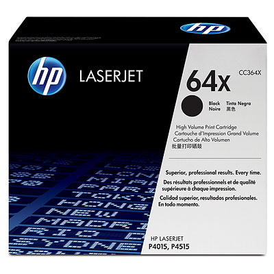 HP 64X Black LaserJet Toner Cartridge (CC364X)
