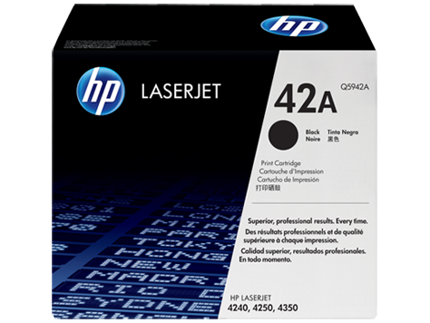 HP 42A Black LaserJet Toner Cartridge (Q5942A)