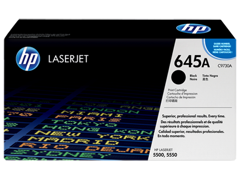 HP 645A Black Original LaserJet Toner Cartridge(C9730A)
